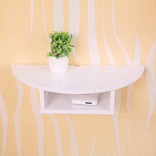WAYMX Set-Top Box Rack Wandhalterung Tv Stand Wohnzimmer Wand-Dekor-Schindel Schlafzimmer Router Aufbewahrungsbox, c (Schindel-wand-dekor)