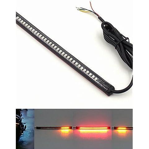 dzxgj® multifunzione universale moto 12v freno coda stop girare licenza segnale luce targa integrato 3258 32LED striscia luminosa