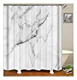 XIAOXINYUAN Digitaldruck Schwarzen Fliesen Knacken Polyester Wasserdicht Vorhang mit Haken Für Home Badezimmer Dekoration 150×180Cm