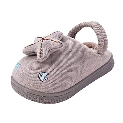 YU'TING ☀‿☀ Pantofole da Casa Bimba, 3D Stella Pantofole, Sandali Bambino Antiscivolo Ciabatte Bimba 2-12 Anni