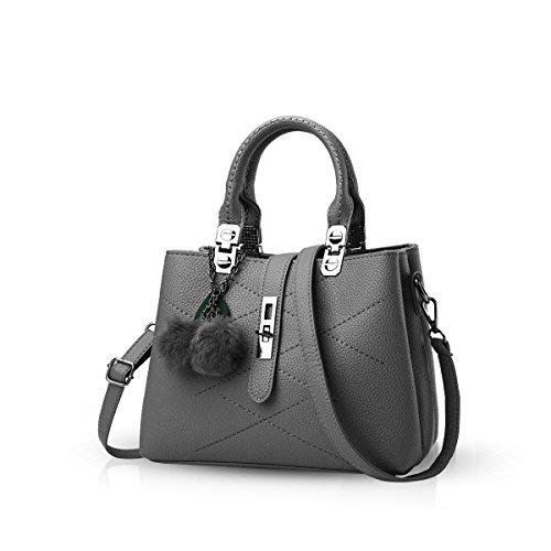 Nicole&Doris 2017 neue Welle Paket Kuriertasche Damen weiblichen Beutel Handtaschen für Frauen Handtasche(Gray)
