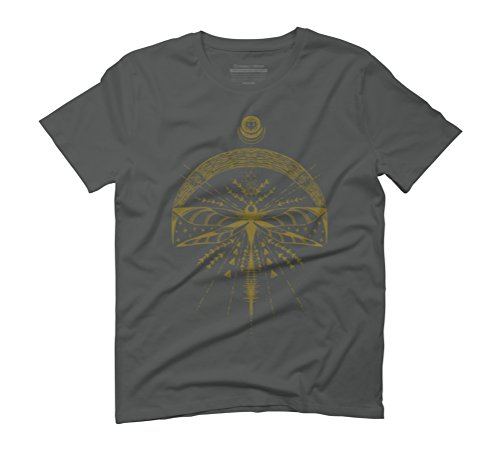 Dragonfly Moon Men's Graphic T-Shirt - Design By Humans Anthracite