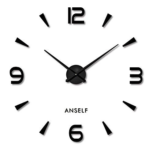Anself ¡Creativo! DIY Reloj de pared extraíble...