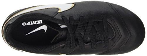 Nike Jr Tiempo Legend Vi Fg Scarpe da calcio allenamento, Unisex bambini Multicolore (Black/White-Metallic Gold)