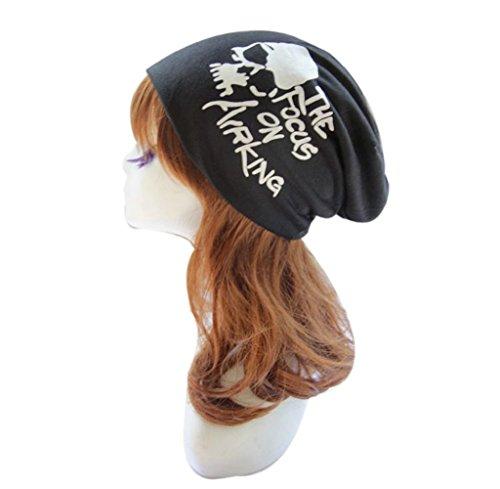Tongshi Manera de las mujeres de los hombres de dibujos animados de impresión Hip Hop Beanie sombrero holgado unisex del cráneo del casquillo de esquí