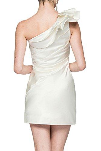 Gorgeous Bride Elegant Mini Ein-Träger Etui Satin 2017 Damen Partykleider Tanzkleider Abendkleider Kurz Cocktailkleider Ballkleider Gelb