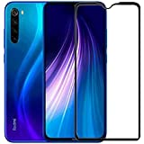CEDO Tempered Glass Screen Protector Full HD Quality Edge to Edge Coverage for Xiaomi Redmi Note 8 (Black)