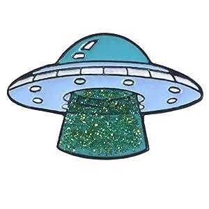 CAOLATOR.Niedlich Enamel Brosche UFO Muster Broschen Brooch Pin Dekorative Pin Anstecknadeln Broschennadeln für Kleidung Schal Rucksack