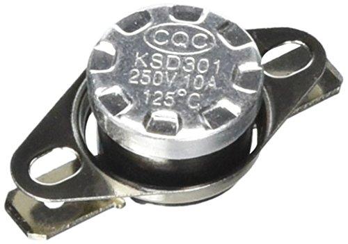 Einstellthermostat N.C. KSD301250VAC 10A 125centígrados Thermostat-Schalter Temperaturkontrolle NC