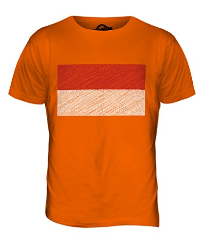 CandyMix Indonesien Kritzelte Flagge Herren T Shirt Orange