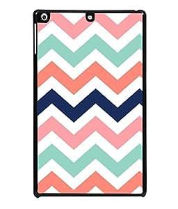 PrintVisa Designer Back Case Cover for Apple iPad Air :: Apple iPad Air Wi-Fi + Cellular :: Apple iPad 5 (Zigjag Strip Design Theeme Pink )