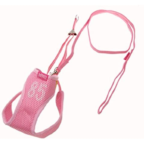 Water & Wood Size 5 Mesh Puppy Doggle Doggie Doggy Pet Dog Vest Harness w/Leash