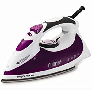 Morphy Richards Comfigrip 40754 Diamond Soleplate Steam Iron with Tip Technology - Plum
