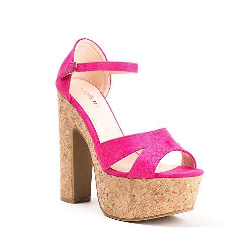 Ideal Shoes ,  Sandali donna Fuchsia