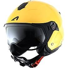 Astone Helmets MINISPORT-YEL Minijet Sport - Casco de motocicleta, Amarillo Metálico, ...