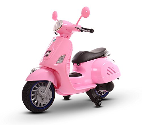 LT 858 Scooter eléctrico para niños HAPPY doble velocidad monoplaza 6/12V (Rosa)