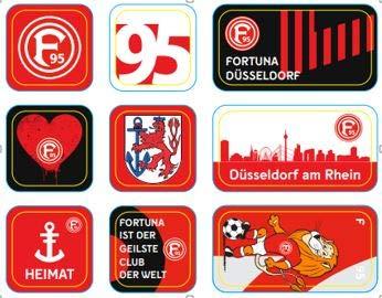 fortuna duesseldorf aufkleber Fortuna Düsseldorf Magnet 9-er Set