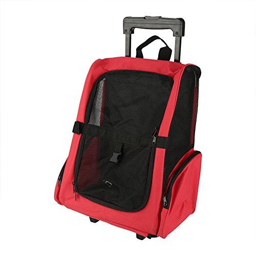 GOTOTOP Pet zaino trolley, doppio Shouder bag per viaggi con cane gatto