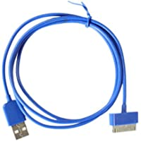 Outstanding Value 2 Meter 30 pin Usb Cable/Lead (Blue) compatiable for Apple Ipad3, Ipad2, Ipad 3g, 3GS, 4, 4s and Ipod series
