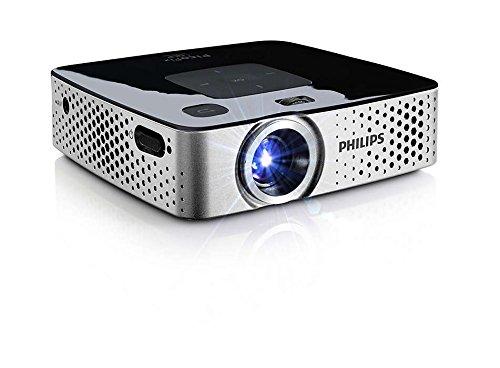 PHILIPS - PicoPix I Proiettore Tascabile I Collegamento USB, HDMI, VCA I Compatibilità Universale I Riproduzione File Multimediali - Grigio/Nero