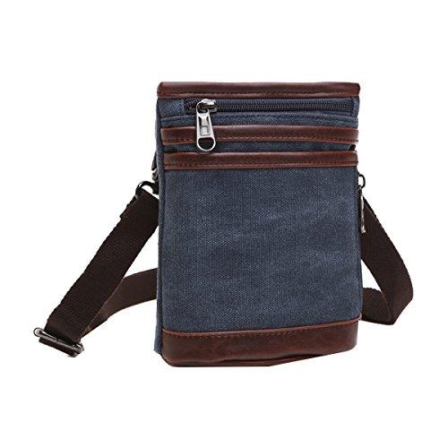 Yy.f Herren-Tasche Dicke Segeltuchtasche Diagonal Und Kleine Neue Mode Geschäftsmann Tasche Praktische Tasche Airbags 3 Farben Blue