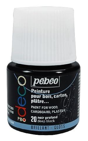 Deco Peinture - Pébéo 092020 Déco Acrylique 1 Flacon Noir
