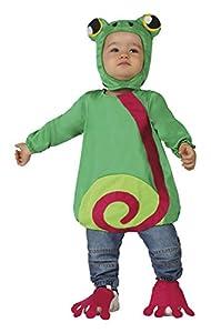 Atosa 26449 - traje de la rana, bebé, tamaño 6-12 meses, verde