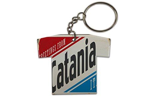 LEotiE SINCE 2004 Schlüsselanhänger Retro Metropole Catania Italien Trikot bedruckt