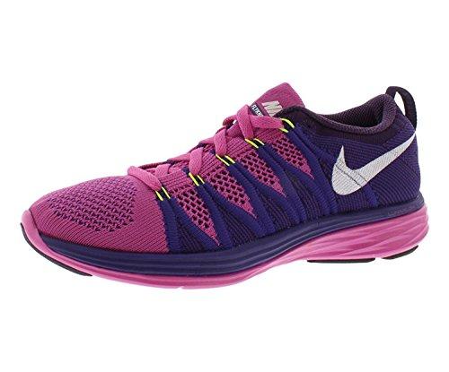 Nike Women flyknit lunar 2 Running trainers shoes, Club Pink/White/Court Purple/Grand Purple, 42 B(M) EU/7.5 B(M) UK Nike Lady-clubs