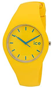 Ice-Watch Unisex Quartz Watch with Yellow Dial Analogue Display and Yellow Silicone Strap ICE.YW.U.S.12