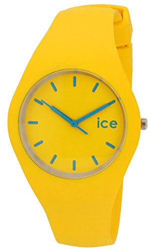 Ice-Watch-Unisex-Quartz-Watch-with-Yellow-Dial-Analogue-Display-and-Yellow-Silicone-Strap-ICEYWUS12