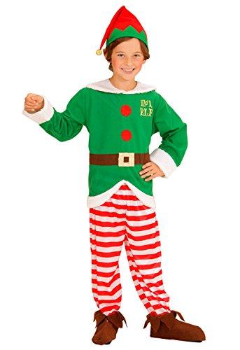 Widmann 00006 - Kinderkostüm Santa's Kleiner Helfer, Kasack, Hose, Hut