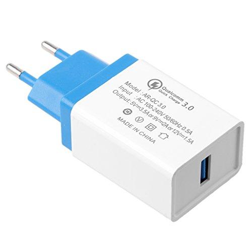 JENOR EU-Stecker Schnellladung QC 3.0 USB Schnellladegerät Adapter Für Iphone 8 Ipad Xiaomi (Verizon-handys Kompatibel)