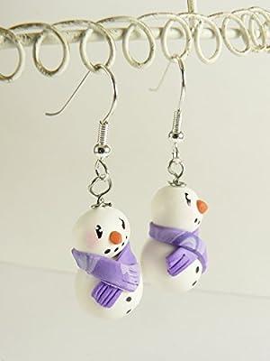 Boucles d'oreilles bonhommes de neige