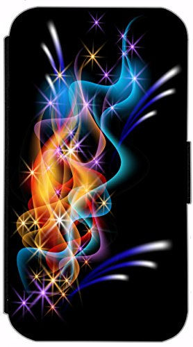 Flip Cover für Apple iPhone 6 / 6S (4,7 Zoll) Design 755 Abstract Schwarz Rot Hülle aus Kunst-Leder Handytasche Etui Schutzhülle Case Wallet Buchflip mit Bild (755) 734