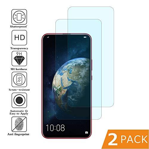 BESTCASESKIN [2 Stück] Panzerglas Schutzfolie für Huawei Honor Magic 2, Huawei Honor Magic 2 Bildschirmschutzfolie, 9H Härte, Anti-Kratzen, Anti-Öl, Anti-Bläschen, Hohe-Auflösung