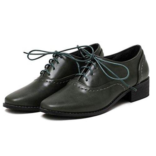 TAOFFEN Damen Klassischer Oxford Schuhe mit Absatz40 EUBrown