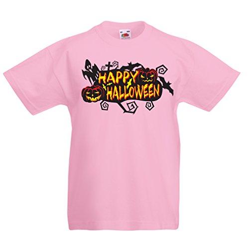 lepni.me Kinder T-Shirt Owls, Bats, Ghosts, Pumpkins - Halloween outfit full of Spookiness (3-4 years Pink (Besten Kostüm Zwei Gesicht Am)
