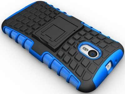 GVC Tough Hybrid Armor Back Cover Case with Kickstand for Motorola Moto G3 (3rd Gen)(Sky Blue)