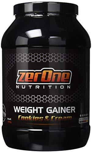 Weight Gainer Hochdosiertes Pulver | hochwertige Kohlenhydrate & Proteine | Masseaufbau| Deutsche Premium Qualität | Hafer-Gerste | 1500g (Cookies & Cream) -