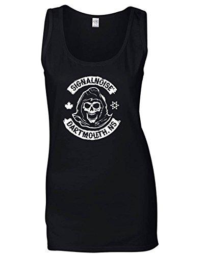 T-Shirtshock - T-shirt Frauen armellos TB0077 signalnoise dartmouth, Größe L