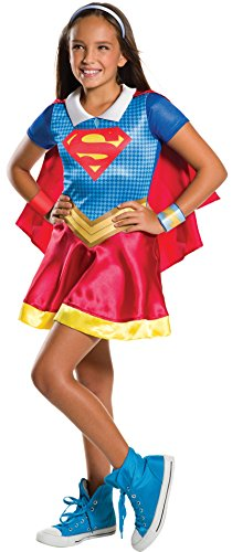 Rubie's Official Girl's Dc Super Hero Supergirl Costume, In three sizes for ages 3 to 10 yrs