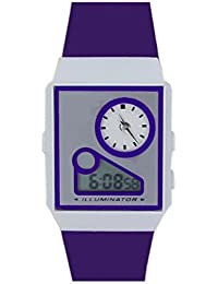 S S TRADERS - Blue Color Analog + Digital Dual Time Watch For Men And Women- 12-24 Hour Time Display Option ::...