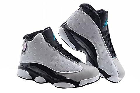 Little Boy Fashion Desing atmungsaktiv Basketball Schuhe, Jungen, schwarz / weiß / grau, 13C=20CM