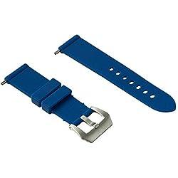 24mm correa de caucho (Panerai...) (azul)
