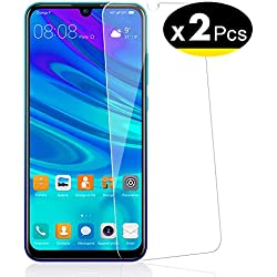 NEW'C Lot de 2, Verre Trempé pour Huawei P Smart 2019, Honor 10 Lite, Honor 8A, Film Protection écran - Anti Rayures - sans Bulles d'air -Ultra Résistant (0,33mm HD Ultra Transparent) Dureté 9H