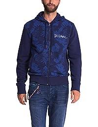 Desigual Blue Pacific - Sweat-shirt - À capuche - Manches longues - Homme