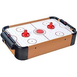 Win.max Mini Table de Hockey sur air en Bois MDF Construction Durable Beaucoup de Jeu Amusant pour Les Vacances d'anniversaire