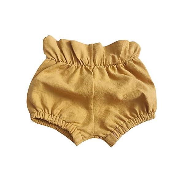 FELZ Pantalones Corto Bebé Niños Niñas, Verano Pantalones Cortos Fruncidos Color sólido Ropa de Playa, bebés de 3 Meses… 1