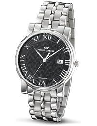 Philip Watch R8253193125 - Reloj analógico de caballero de cuarzo con correa de acero inoxidable plateada